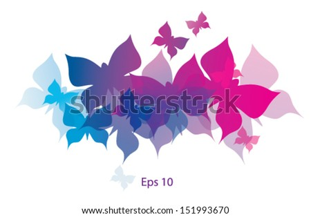 Butterflies decorative - stock vector