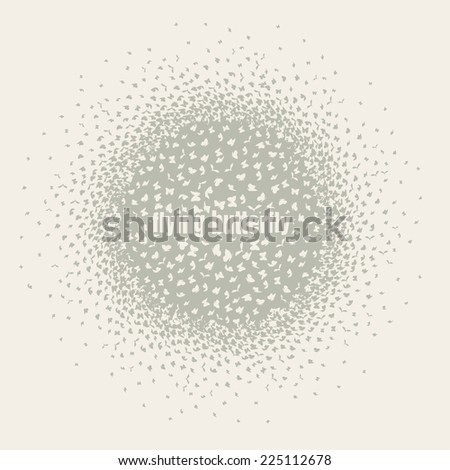 butterflies flying in a circle scatter in different directions. pastel - stock vector