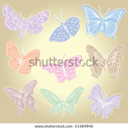Butterflies - vector illustration
