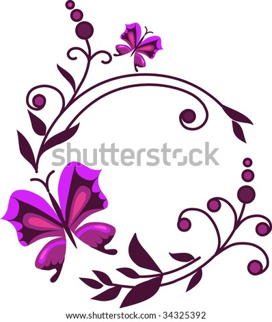 butterfly and flower ornament
