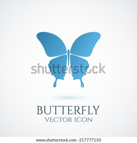 Butterfly conceptual icon. Logo. Vector illustration - stock vector