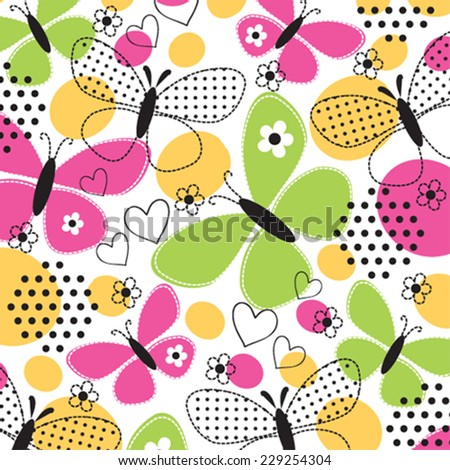 butterfly pattern vector illustration - stock vector