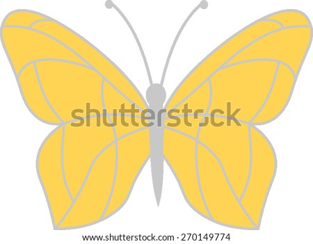 Butterfly Silhouette - stock vector
