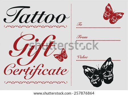 Matt cheverallss portfolio on shutterstock butterfly skull tattoo gift card and gift certificate template yadclub Gallery