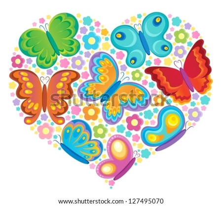 Butterfly theme image 4 - vector illustration.