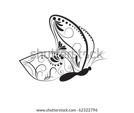 Butterfly. Vector - stock vector