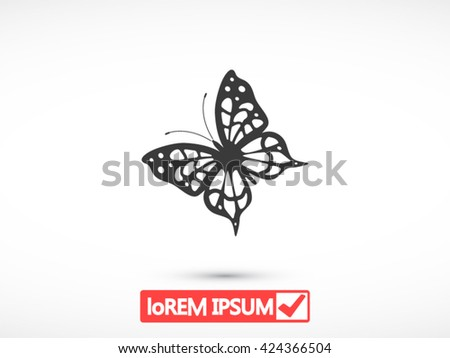 Butterfly vector icon - stock vector