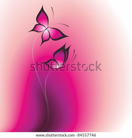 Butterfly. Vector illustration. - stock vector