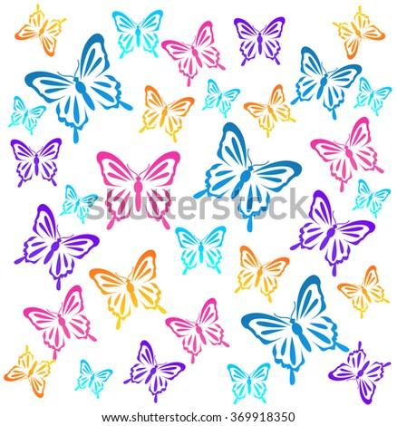 Butterflys. Vector illustration  - stock vector