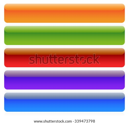 Button, banner backgrounds in several colors. - stock vector