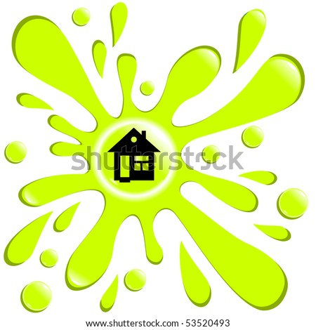 button blot house isolated on the white background vector eps10 - stock vector