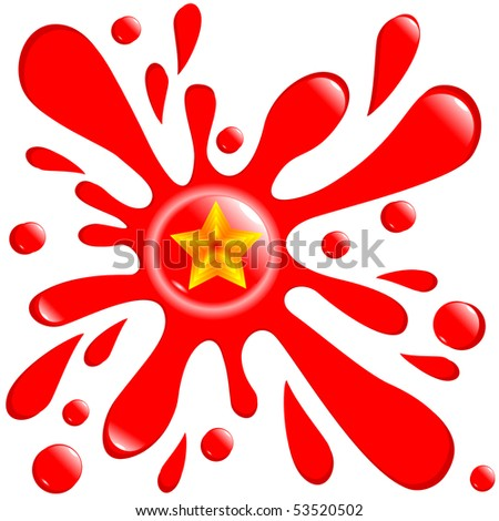 button blot star isolated on the white background vector eps10 - stock vector