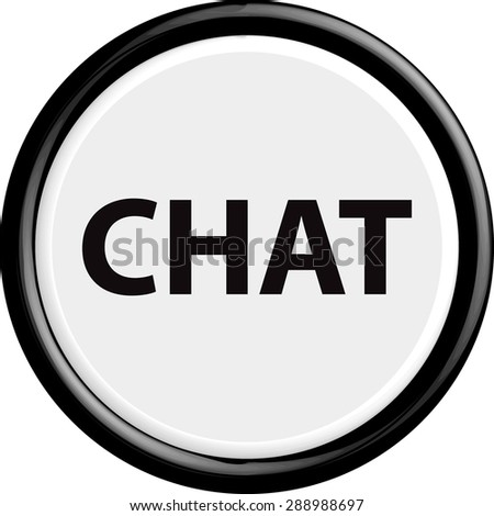 Button chat . The round shape. 3D. Vector illustration.
