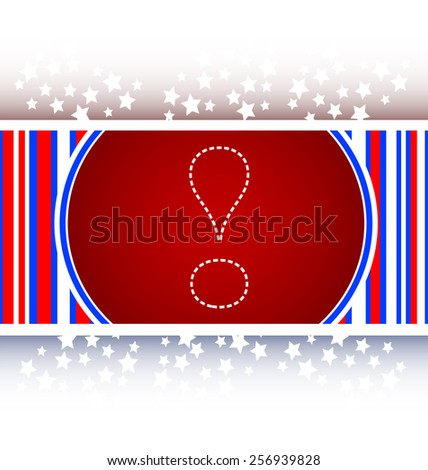 button exclamation mark symbol attention sign isolated on white - stock vector