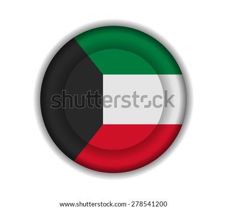 button flags kuwait - stock vector
