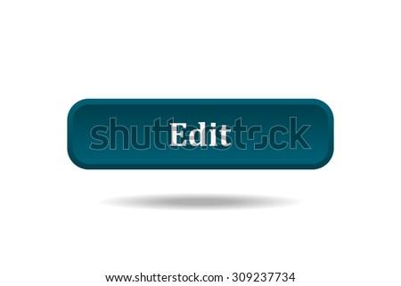button for a site. Edit, icon. vector design - stock vector