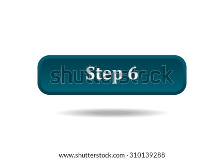 button for a site. Step, icon. vector design