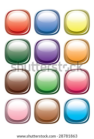 Button from colors. Vector.