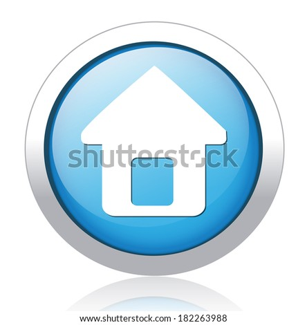 button home symbol sign - stock vector