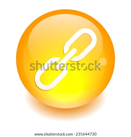 Button internet chaine lien icon - stock vector