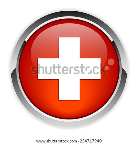 button internet health icon