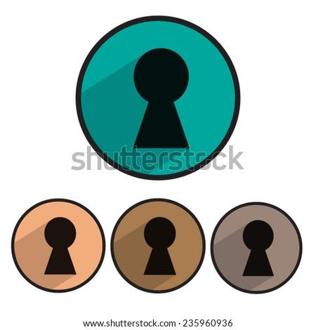 button keyhole vector icons stock vector 235960936 shutterstock rh shutterstock com keyhole eye vector keyhole eye vector