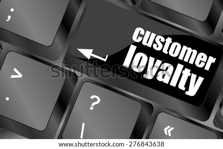 button keypad key with customer loyalty word vector - stock vector