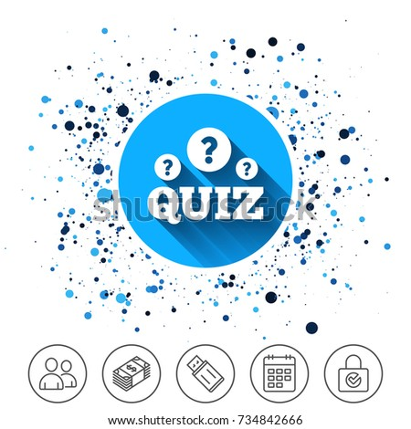 Button On Circles Background Quiz Question Stock Vector Hd Royalty