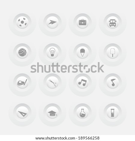 Button School and Education Icons Web design Menu template