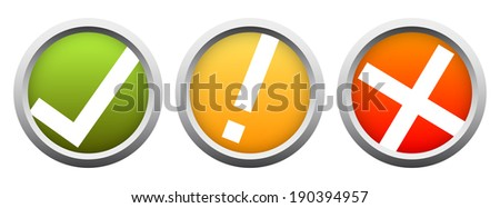 Button Set - positive and negative traffic lights