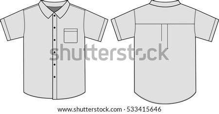button shirts illustration vector stock vector 533415646. Black Bedroom Furniture Sets. Home Design Ideas