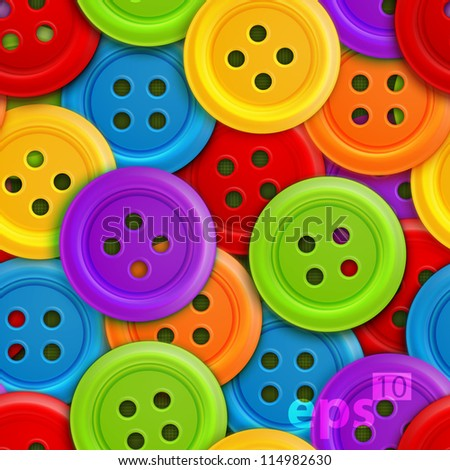 Button stud cute glossy seamless vector eps10 texture pattern - stock vector