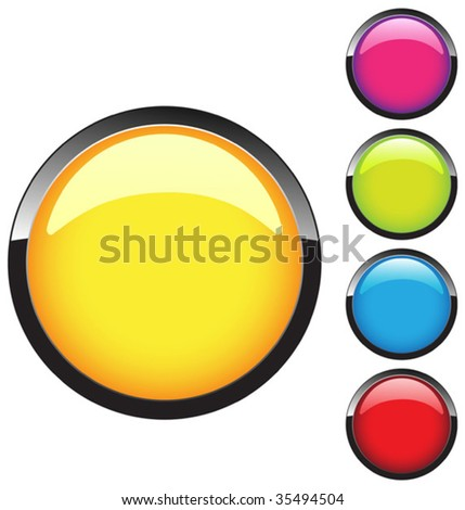 Button tamplate - stock vector