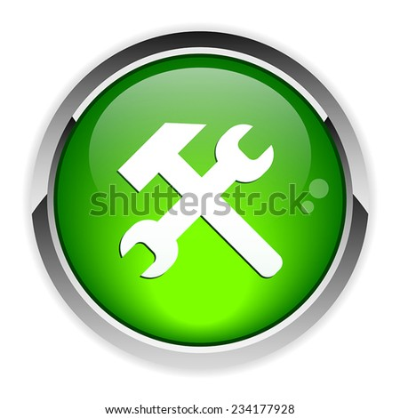 Button tools 3d icon - stock vector