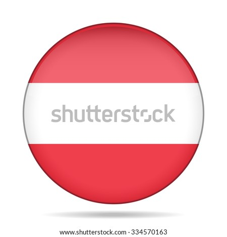 button with national flag of Austria and shadow