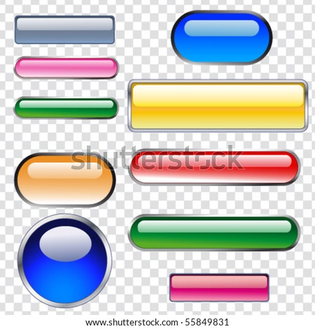 buttons - stock vector