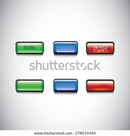 Buttons for website. Vector illustration buttons.