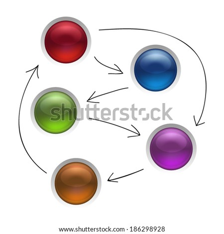 Buttons Isolated Vector Illustration - stock vector