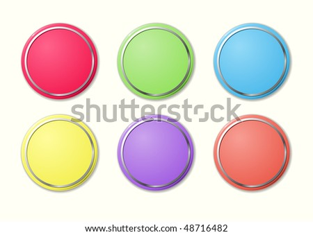 Buttons of the round form, different colours