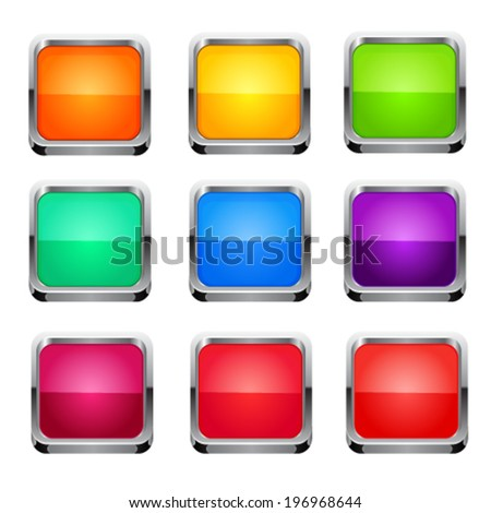 Buttons set. Vector