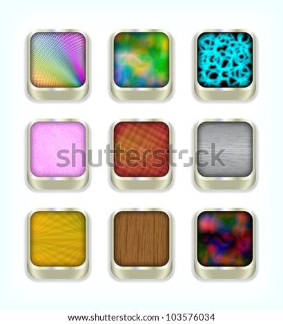 Buttons, vector, 10eps. - stock vector