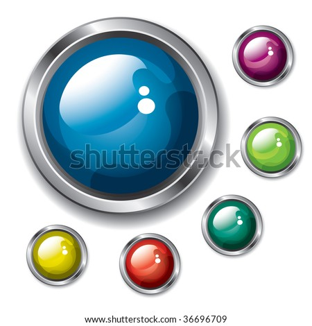 Buttons (vector). In the gallery also available XXL jpeg version of this image. - stock vector