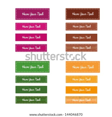 Buttons Vintage - stock vector