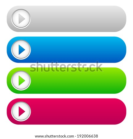 buttons with arrows - stock vector