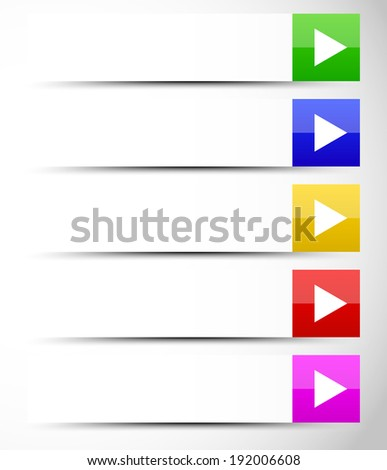 buttons with arrows fading to white - stock vector