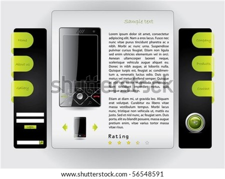 Buy a cell phone website template - stock vector