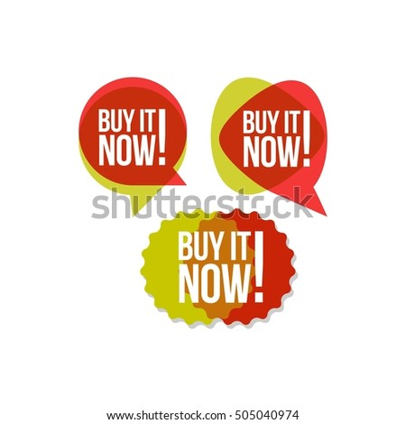 Buy button, marketing campaign poster for your online and offline store.