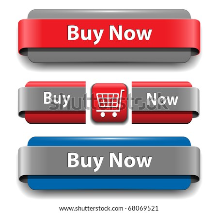 Buy buttons set for website, vector. - stock vector