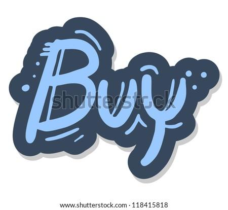 Buy graffiti message - stock vector