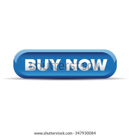 Buy now button blue vector - stock vector